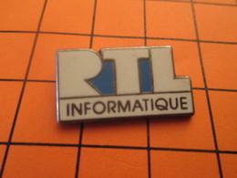 1115a Pins Pin's / Rare & TB état / THEME INFORMATIQUE : RTL INFORMATIQUE Par DECAT PARIS - Informatique
