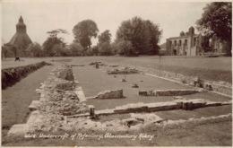 PC01350 Undercroft Of Refectory. Glastonbury Abbey. Sweetman. Sunshine Series. RP - Postales