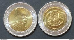 Thailand Coin 10 Baht Bi Metal 2004 200th HM King Rama4 Y415 UNC - Thailand