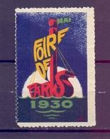 CINDERELLA  ERINOFILO International Exposition FOIRE PARIS 1930   (GIUGN1900B100) - Erinnofilia