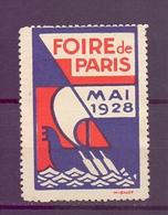CINDERELLA  ERINOFILO International Exposition FOIRE PARIS 1928   (GIUGN1900B101) - Erinnofilia