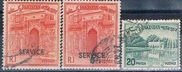 Pakistan 1963 / 70 -  Michel  93 + 104 + 106  ( SERVICIO )  ( Usados ) - Pakistán
