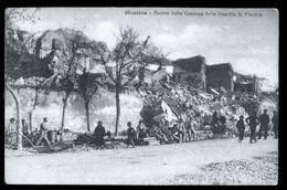 MESSINA - TERREMOTO DEL 1908 - ROVINE DELLA CASERMA DELLA GUARDIA DI FINANZA - ANIMATA! - Caserme