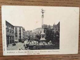 CPA, NAPOLI, Piazza Dei Martiri Con La Colonna Della Vittoria, Eretta Nel 1864, Animée, Non écrite, éd Ragozino, Napoli - Napoli
