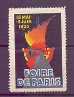CINDERELLA  ERINOFILO International Exposition FOIRE PARIS 1935   (GIUGN1900B103) - Erinnofilia
