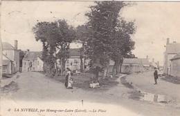 45. MEUNG SUR LOIRE. CPA. RARETE. LA NIVELLE. LA PLACE. ANIMATION . ANNEE 1905 + TEXTE - Sonstige Gemeinden