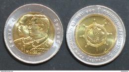Thailand Coin 10 Baht Bi Metal 2005 100th Army Transporation Department Y416 UNC - Thailand