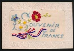 BORDUUR -  CARTE BRODÉE  -  SOUVENIR DE FRANCE - Ricamate