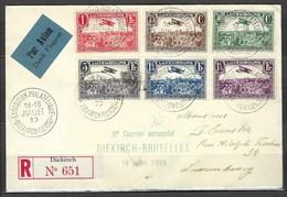 Troisième Courrier Aéropostal Diekirch - Bruxelles Le 16 Juillet 1933, Avec Vignette Au Verso TB - Airmail