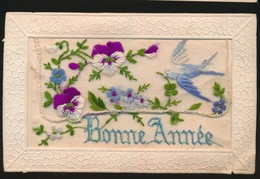 BORDUUR -  CARTE BRODÉE  -  BONNE ANNEE - Ricamate