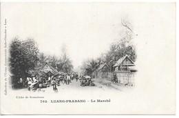 Cpa....LAOS....Luang-Prabang...le Marché.....animée....1916...cliché De Sesmaisons.. - Laos