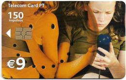 Portugal - PT - Meninas, Women On Phone - PT331 - 9€, 01.2002, Gem5 Red, Used - Portugal