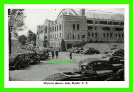 LAKE PLACID, NY - MINI-POSTCARD - OLYMPIC ARENA, ANIMATED WITH OLD CARS - - NY - New York