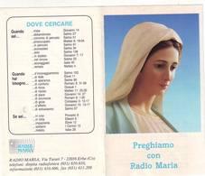 Santino Pieghevole Radio Maria Una Voce Cristiana Nella Tua Casa - Santini