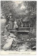 Cpa....Esperausses...(Tarn)...fontaine Du Terront...animée...lavandières.... - Autres Communes
