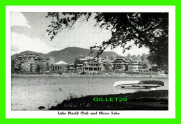 LAKE PLACID, NY - MINI-POSTCARD - LAKE PLACID CLUB AND MIRROR LAKE - - NY - New York