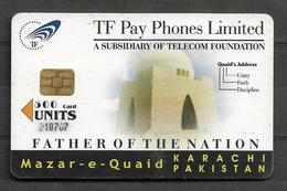 PAKISTAN USED CHIP PHONECARD 500 UNITS - Pakistan