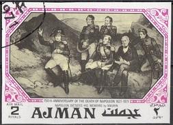 """1167 Ajman 1971 """"Napoleone Detta Le Sue Memorie"""" Quadro Dipinto Da Maurin Paintings Tableaux Nuovo Preoblit. - Rivoluzione Francese"""