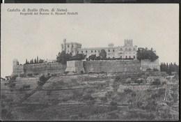 CASTELLO DI BROLIO (SIENA)   - FORMATO PICCOLO - EDIZ VENTURINI SIENA - SCRITTA AL RETRO E DATATA 1929 - Castelli