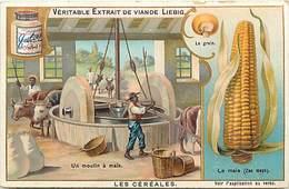 - Chromos -ref-chA523- Liebig - Les Cereales - Le Mais - Moulin A Mais - - Liebig