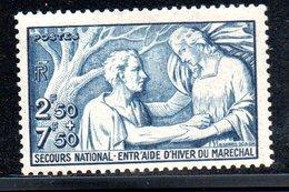 N 498 / 2 Francs 50  + 7 Francs 50 Bleu /  NEUF **  /  Côte 11  € - Ungebraucht