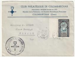 ALGERIE - LETTRE De Colomb-Béchar Le 25/10/1954 - Algerien (1924-1962)