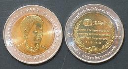 Thailand Coin 10 Baht Bi Metal 2007 WHO Food Safety Award Queen Sirikit Y433 UNC - Thailand