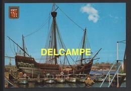 DF / BATEAUX / VOILIERS HISTORIQUES / LA CARAVELLE SANTA MARIA DANS LE PORT DE BARCELONE ( ESPAGNE ) - Sailing Vessels