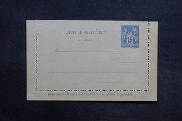 FRANCE - Entier Postal Type Sage Non Circulé ( Petite Variété De Piquage ) - L 31450 - Letter Cards
