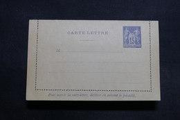 FRANCE - Entier Postal Type Sage Non Circulé ( Petite Variété De Piquage ) - L 31451 - Letter Cards