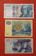 SUEDE. LOT 3 ANCIENS BILLETS. BANKNOTES SWEDEN. - Suède