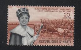 Reine Mondiale Du Sucre Haïti Timbre ** Alimentation - Alimentation