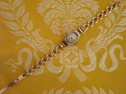 Montre Bracelet Mécanique Or ( Aigle) Et Argent De Marque PERFEX Standard , Avant 1950 .Bracelet Plaqué . Fonctionne - Montres Anciennes