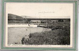 CPA - POUXEUX  (88) - Aspect Du Pont Ferroviaire Et Du Confluent De La Moselle Et De La Vologne Dans Les Années 30 - Pouxeux Eloyes
