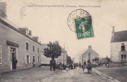23. PEYRAT LA NONIERE  CPA. ROUTE D'AUZANCE. ANIMATION ANNÉE 1914 - France