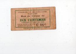 50 - BRA - SUR - LIENNE  -  Bon De Caisse (billet De Nécessité) De 10 Centimes - Octobre 1915   *très Peu Courant* - Lierneux