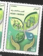 ALGERIA, 2018, MNH , GREEN CITY, ENVIRONMENT, CYCLING, EXERCISE, RECYCLING,1v - Environment & Climate Protection