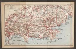 CARTE PLAN 1926 - LES MAURES MOUILLAGE DES VAISSEAUX GOLFE DE St TROPEZ CAVALAIRE FREJUS - Mapas Topográficas