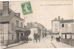 CPA Buzançais Entrée De La Rue Grande 36 Indre - France