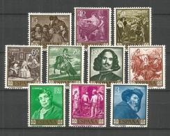 ESPAÑA VELAZQUEZ EDIFIL NUM. 1238/1247 ** SERIE COMPLETA SIN FIJASELLOS - 1951-60 Nuevos & Fijasellos