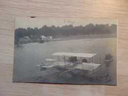 Liège - Photo Carte - Aviation 1912 - Hydravion TRIAD Aviateur Paulhan-Curtiss - Avion - Signé - Circulé - Voir 2 Scans - ....-1914: Précurseurs