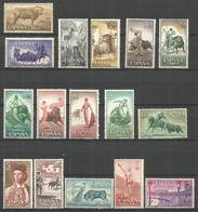 ESPAÑA TOROS EDIFIL NUM. 1254/1269 ** SERIE COMPLETA SIN FIJASELLOS - 1951-60 Nuevos & Fijasellos