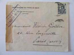 Espagne Vers France - Enveloppe Avec Censure Militaire - Janvier 1939 - Nationalists Censor Marks