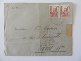 Espagne Vers France - Enveloppe Avec Censure Militaire - Partie En Déc. 1938 Et Distribuée En Janv. 1939 - Nationalistische Zensur