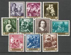 ESPAÑA MURILLO EDIFIL NUM. 1270/1279 ** SERIE COMPLETA SIN FIJASELLOS - 1951-60 Nuevos & Fijasellos