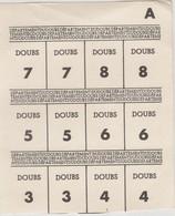 Rationnement / Planche Tickets Département Du Doubs - 1939-45
