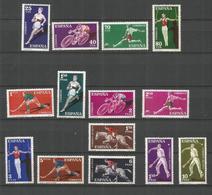 ESPAÑA DEPORTES EDIFIL NUM. 1306/1319  ** SERIE COMPLETA SIN FIJASELLOS - 1951-60 Nuevos & Fijasellos