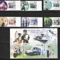 HONG KONG, 2019, MNH, POLICE FORCE, MOTORBIKES, BOATS, DOGS, WEAPONS, 6v+S/SHEET - Police - Gendarmerie