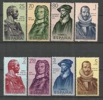 ESPAÑA FORJADORES DE AMERICA EDIFIL NUM. 1374/1381 ** SERIE COMPLETA SIN FIJASELLOS - 1961-70 Nuevos & Fijasellos