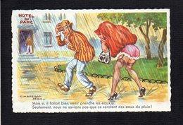 Illustrateur Dessin Signé (C) Jean Chaperon / Fantaisie,humour / Mais Si,il Fallait Bien Venir Prendre Les Eaux .... - Chaperon, Jean
